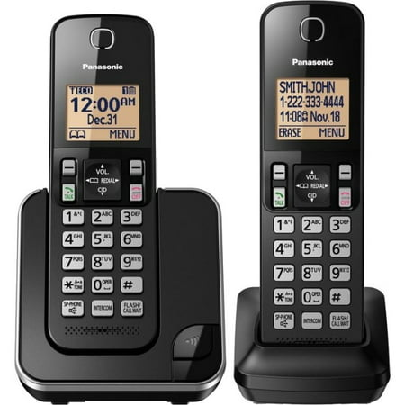 Panasonic KX- TGC352 Cordless Telephone (Black) - Panasonic Blue Telephone