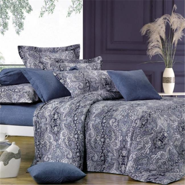 North Home NHDCKGPR0004 North Home - Lauren 100 percent Cotton 4pc Duvet Cover Set - King