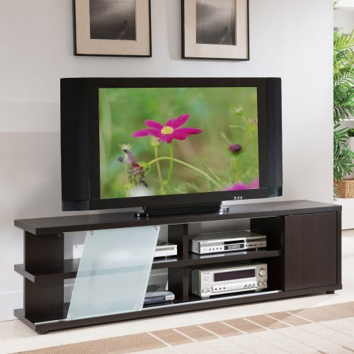Furniture of America Griffith Multi Storage TV Stand - Cappuccino