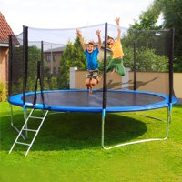 LNCDIS12 FT Kids Trampoline With Enclosure Net Jumping Mat And Spring Cover Padding