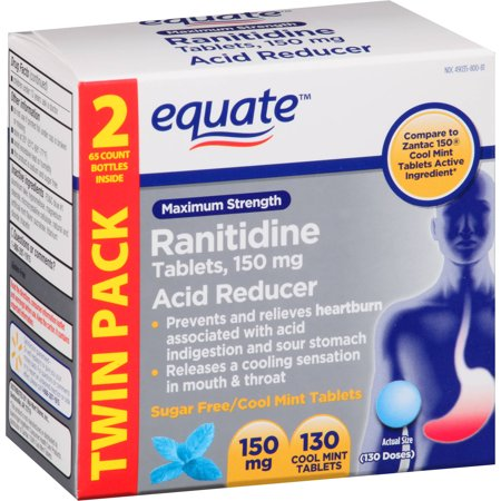 equate Ranitidine acide Réducteur neuf Cool, 130 count