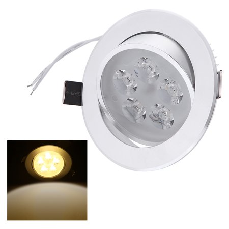 5*1W LED Recessed Ceiling Down Light Lamp Spotlight Indoor for Home Living Room Decoration Lighting with Driver -