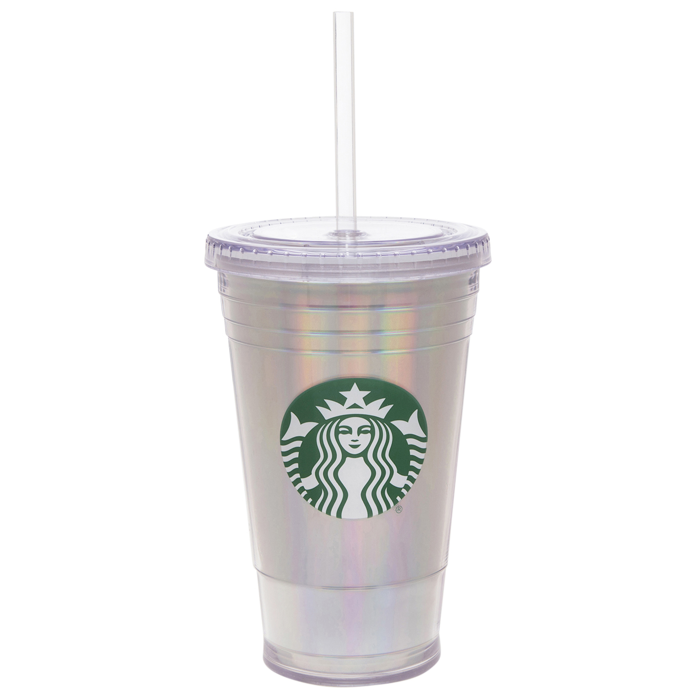 Starbucks 16 Ounce Tumbler with Straw Iridescent, 1 Each