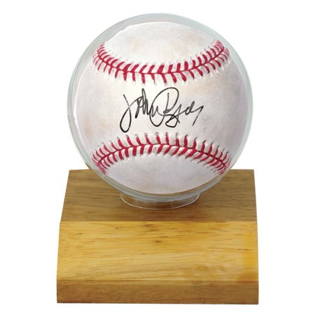 MLB Wood Base Baseball Holder, Great for displaying autographs By Ultra Pro