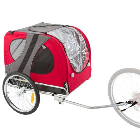 Rage Powersports Red Pull Behind Dog Bicycle Trailer Pet Carrier