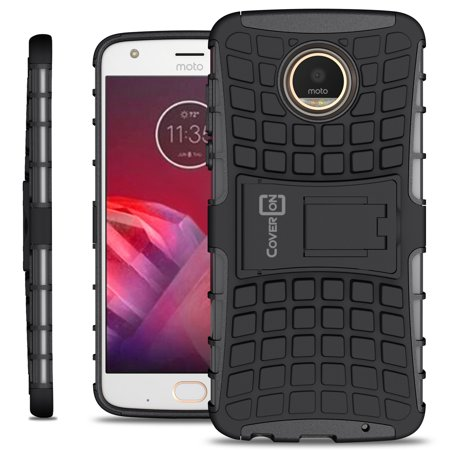 check out e3110 6ac13 CoverON Motorola Moto Z2 Play Case, Atomic Series Slim Protective Kickstand  Phone Cover