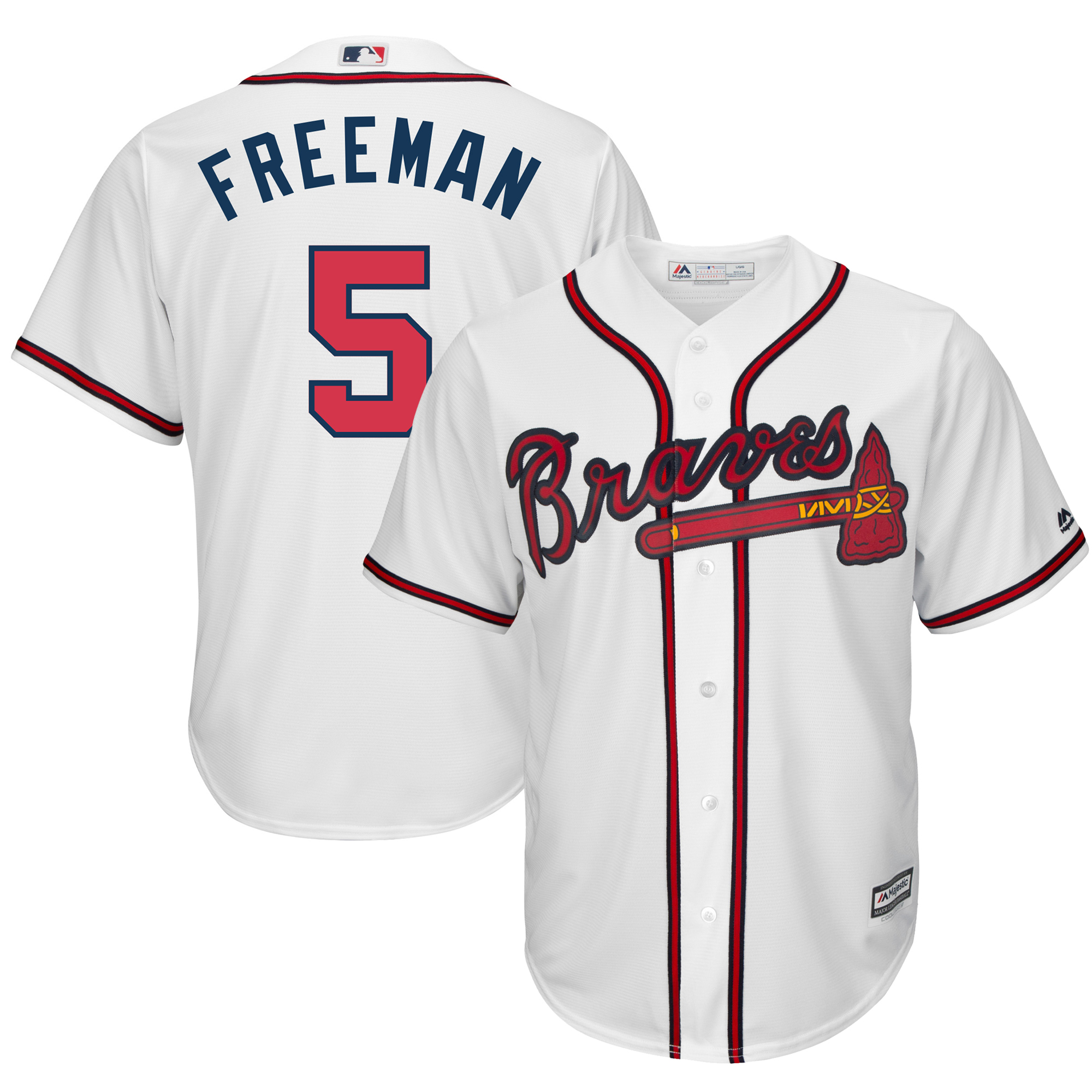 Freddie Freeman Atlanta Braves Majestic Cool Base Player Jersey - White