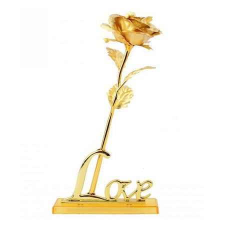 Handmade Gold Rose Valentine's Day Gift Party Home Decoration Flowers ()