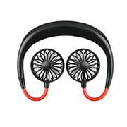 HEMU FASHION Wearable Lazy Sports Halter Fan Mini Hanging Neck Fan USB Rechargeable Cover