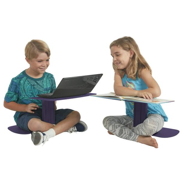 ECR4Kids The Surf Eggplant 10-Pack Portable Lap Desk//Laptop Stand//Writing Table