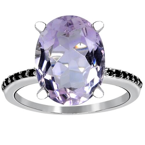 Orchid Jewelry Mfg Inc Orchid Jewelry 925 Sterling Silver 5 3/20ct Genuine Purple Amethyst and Spinel Ring