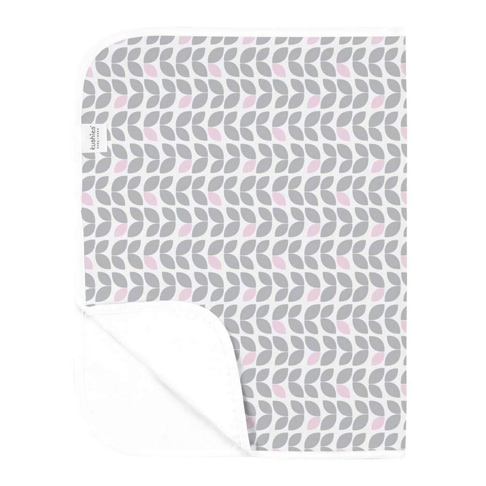 Kushies Flat Flannel Change Pad - Grey Petal - image 2 de 2