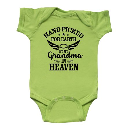 Handpicked for Earth By My Grandma in Heaven Angel Wings Infant Creeper