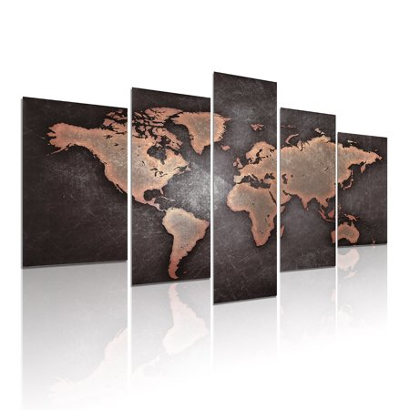 5 pcsset modern abstract world map oil painting canvas picture 5 pcsset modern abstract world map oil painting canvas picture print wall art home gumiabroncs Images