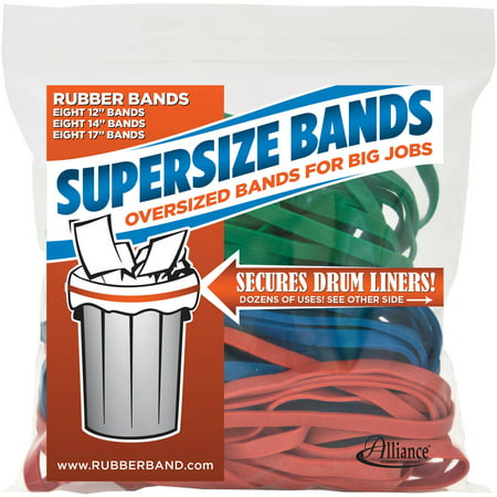 Naked Rubber Band - Alliance, SuperSize Bands, Assorted Sizes & Colors, 24-Pack