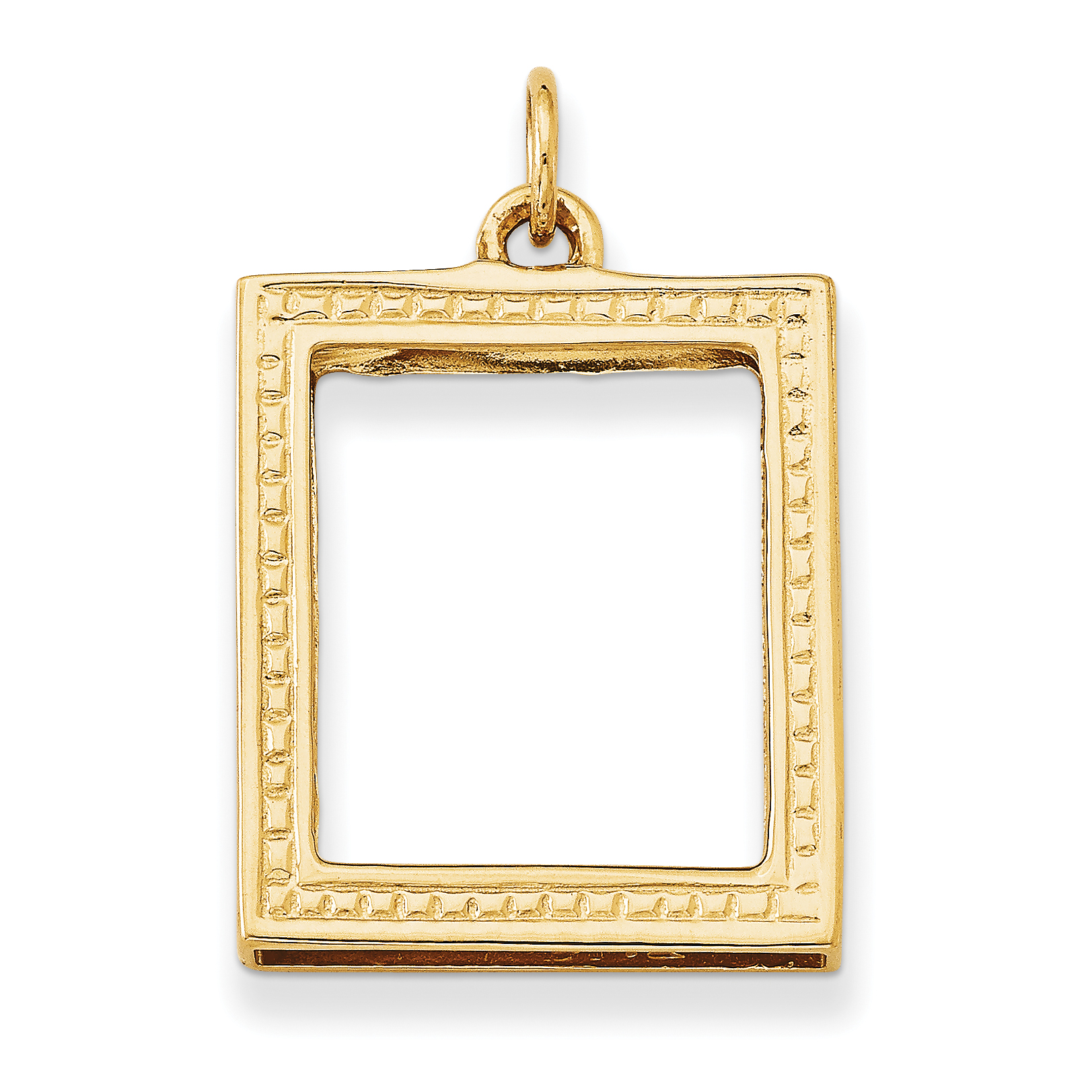 14k picture frame pendant a0396 walmart