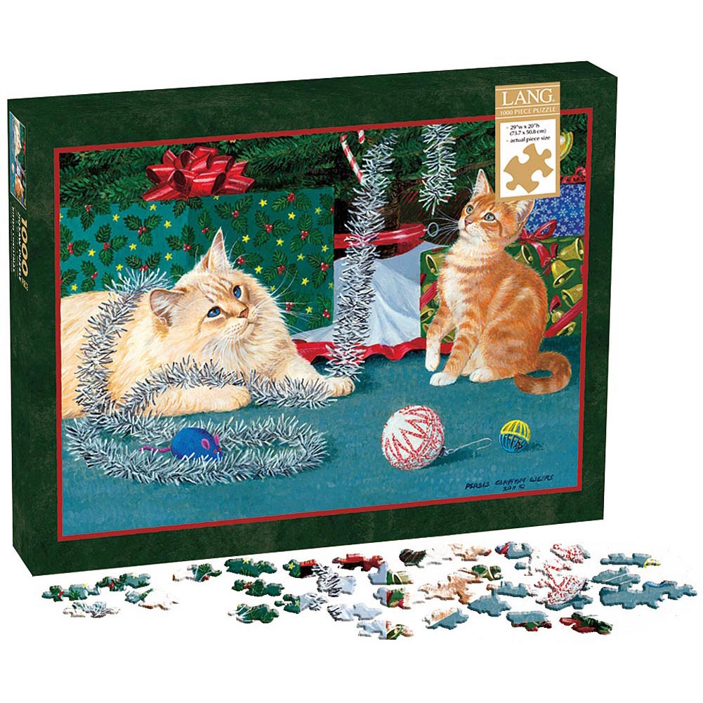 Kitten Christmas 1000 Piece Puzzle,  Christmas Puzzles by Perfect Timing