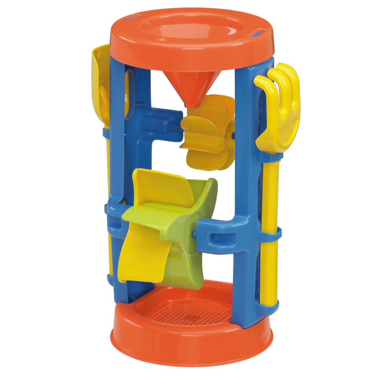 Toy Sand & Water Wheel Beach Box Sea Outdoor Fun Play Build American Plastic Funnel Dig 02460 by American Plastic