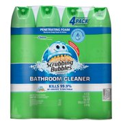 Scrubbing Bubbles Foaming Bathroom Cleaner, Fresh Scent, 25 Oz, 4 Ct