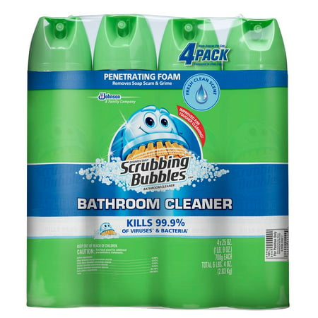 Scrubbing Bubbles Foaming Bathroom Cleaner Fresh Scent 25 Oz 4 Ct