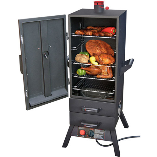 "Landmann 38"" 16,000 BTU Vertical Gas Smoker with 2 Drawers"