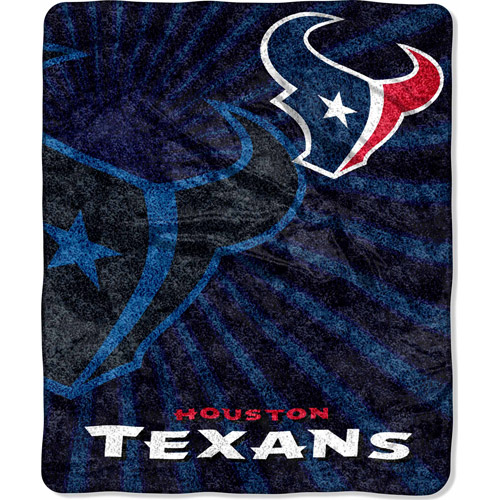 "NFL Strobe 50"" x 60"" Sherpa Throw, Texans"