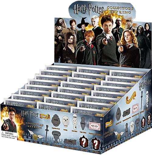3D Figural Keychain Harry Potter Series 1 Mini Figure Keyring Mystery Pack Box by