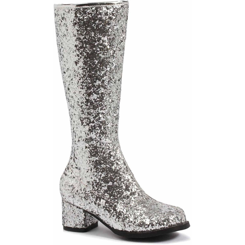 Silver Glitter Gogo Boots Girls' Child Halloween Costume Accessory