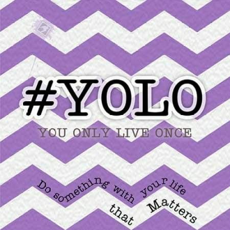 YOLO Poster Print by Tony Pazan