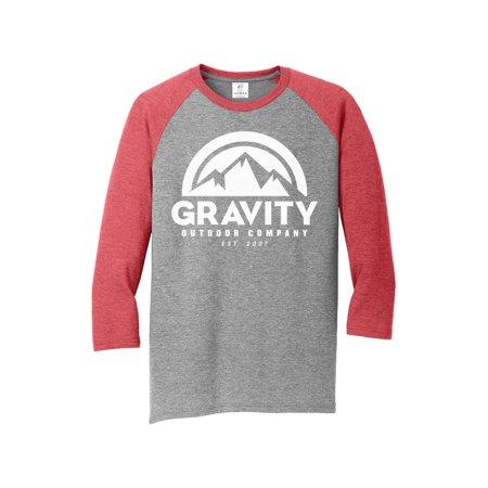 Mens Gravity Outdoor Co. 3/4-Sleeve Raglan Shirt Supply Co Raglan