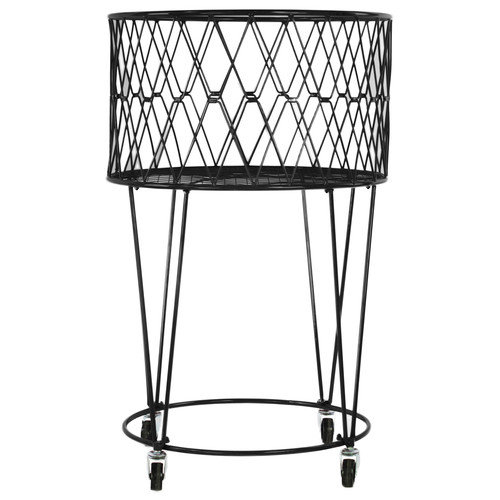 Urban Trends Metal Laundry Basket with Casters