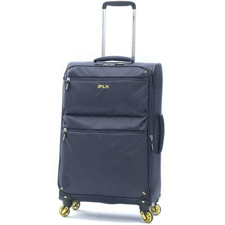 iFLY Softside Luggage Ez Glider 28, Navy (Best Lightweight Checked Luggage)