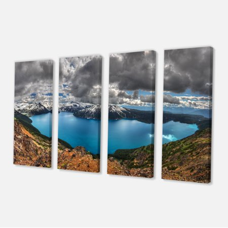 Lake Surrounded by Mountains - Extra Large Landscape Canvas Art Print - image 2 of 3