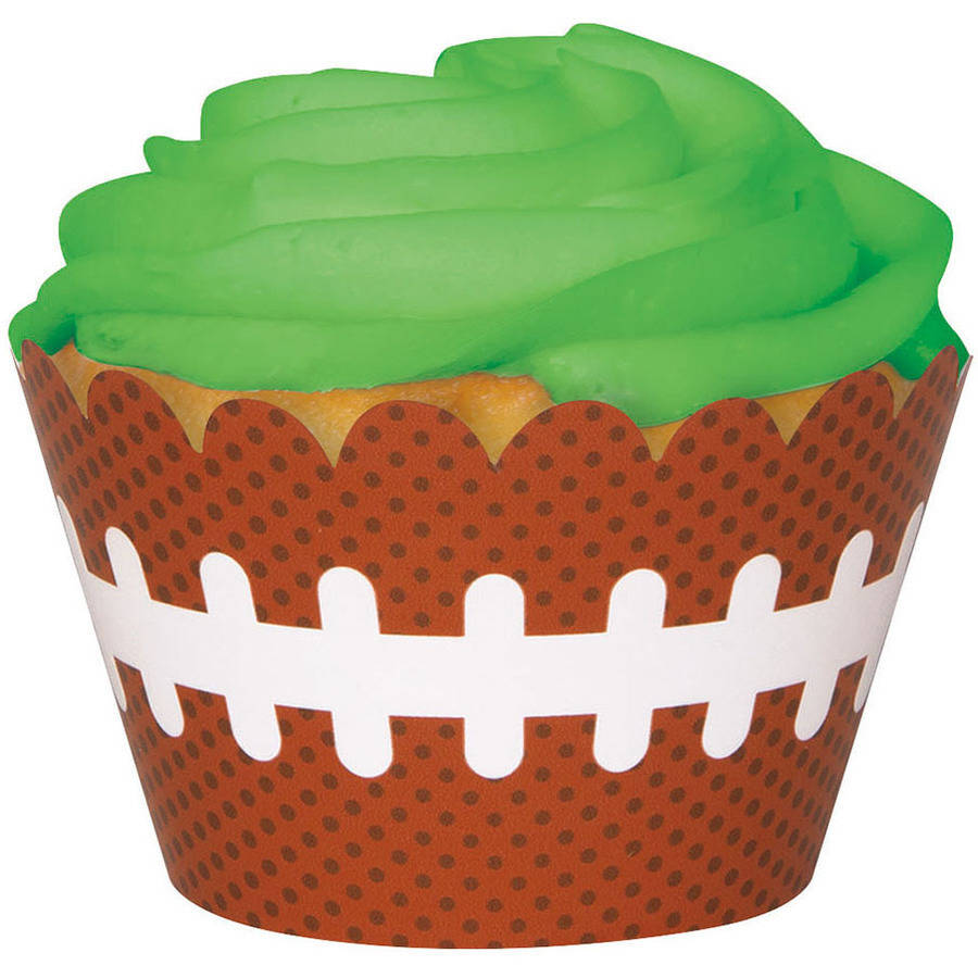 Football Cupcake Wrappers, 12-Count