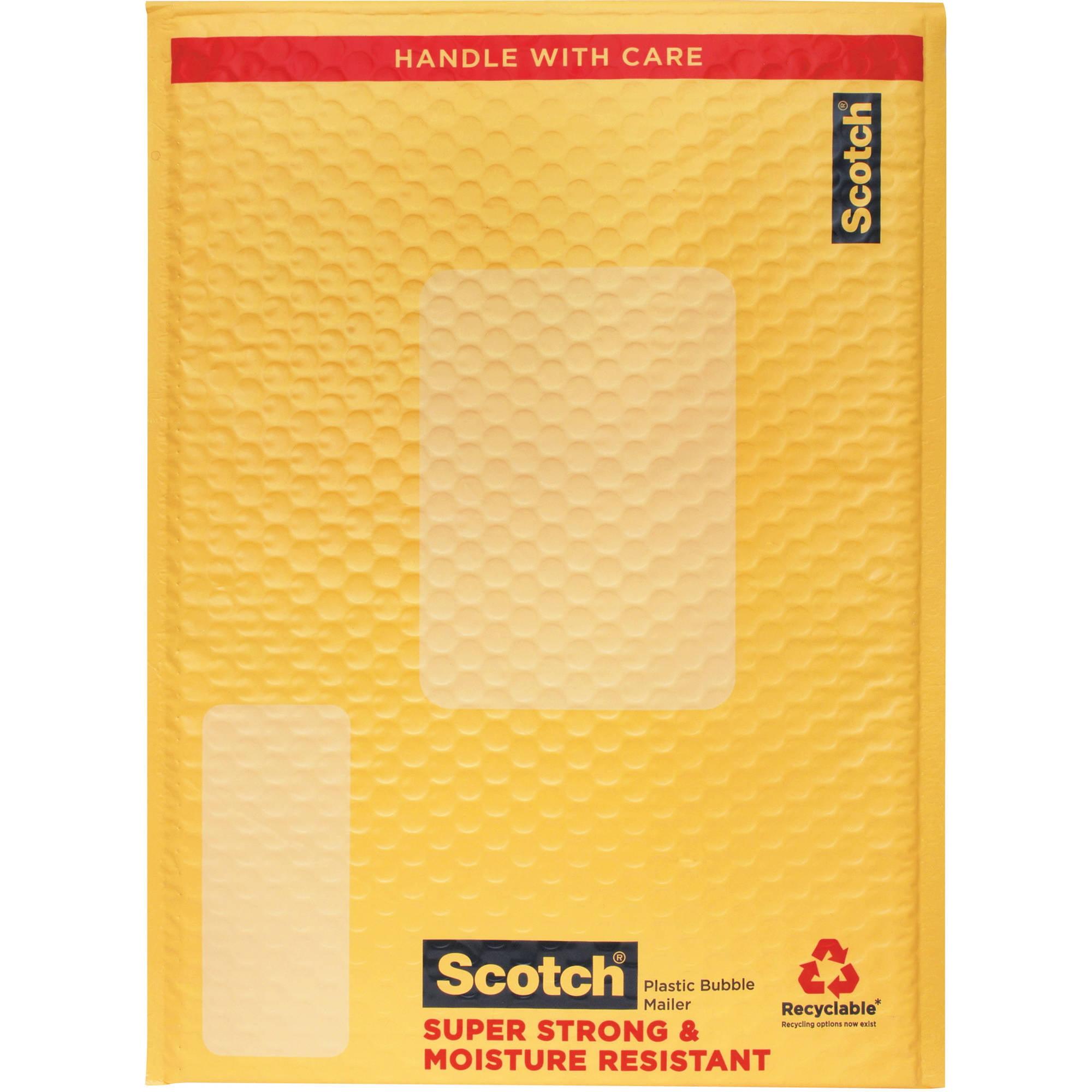 """Scotch Plastic Bubble Mailer, 10.5"""" x 15"""""""
