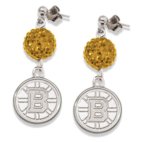 Boston Bruins S/S BOSTON BRUINS CRYSTAL OVATION EARRINGS