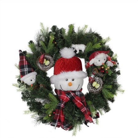 24 pre lit battery operated musical artificial christmas wreath warm clear led lights - How To Decorate Artificial Christmas Wreath