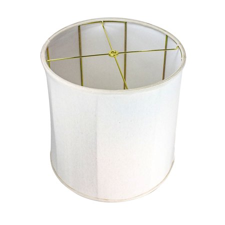 14x15x15 Collapsible Drum Lampshade Premium Light Oatmeal Linen Drum Shade 16 Inch Base