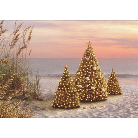 LPG Greetings Decorated Trees on Beach Alan Giana Tropical Holiday Card](Beach Decorating Accessories)