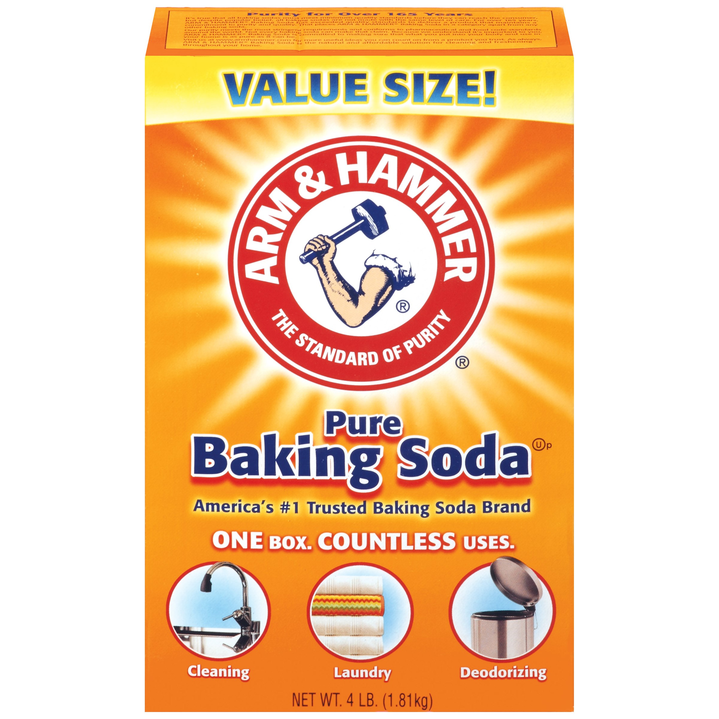 Arm & Hammer Baking Soda, 64 OZ (Pack of 6)
