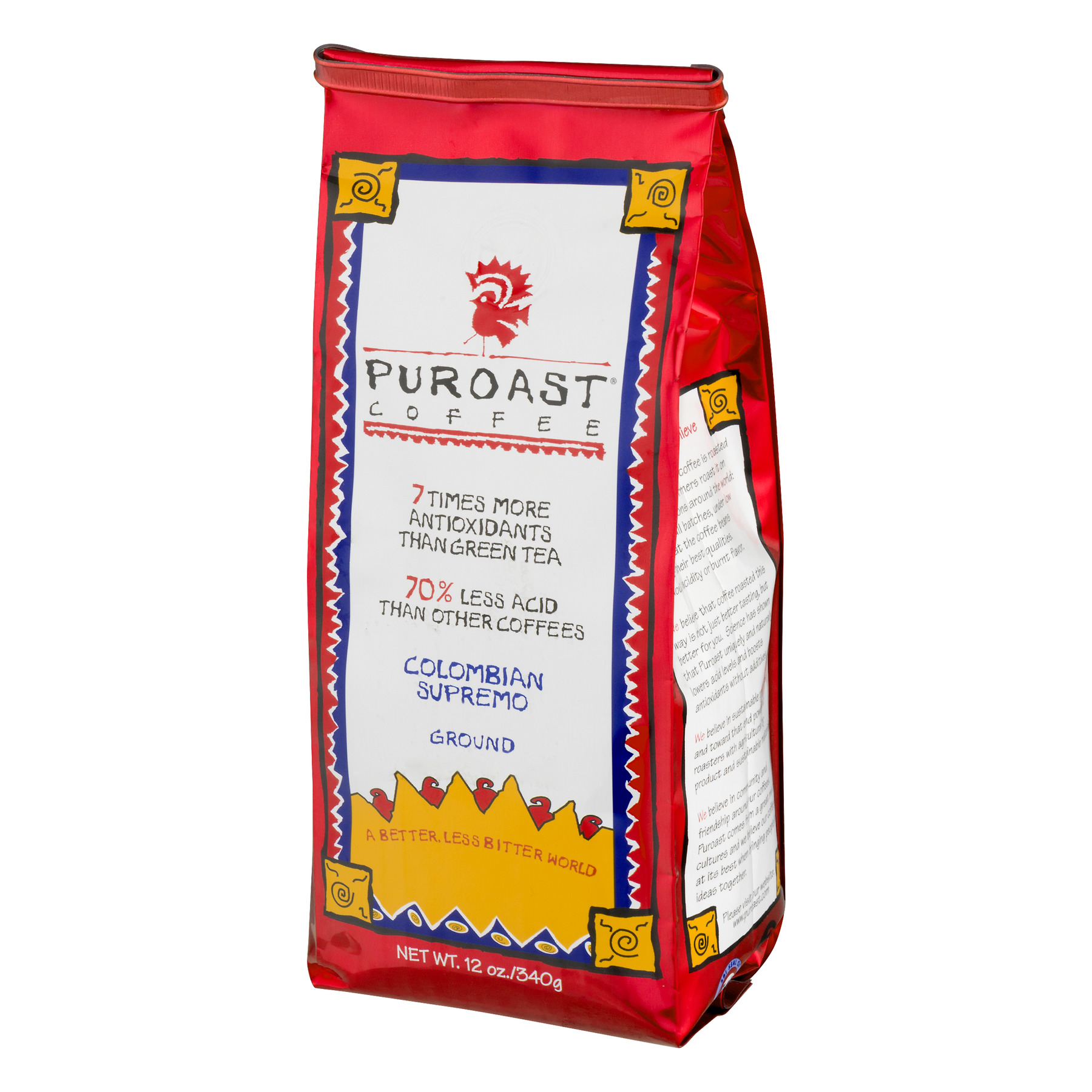 Puroast Coffee Ground Colombian Supremo, 12.0 OZ - Walmart.com
