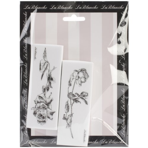 LaBlanche Silicone Stamps, 6 by 7.5-Inch, Roses Multi-Colored
