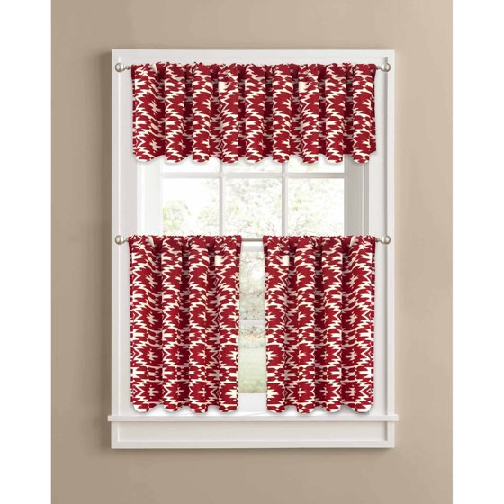 Better Homes And Gardens Red Southwest Kitchen Curtains