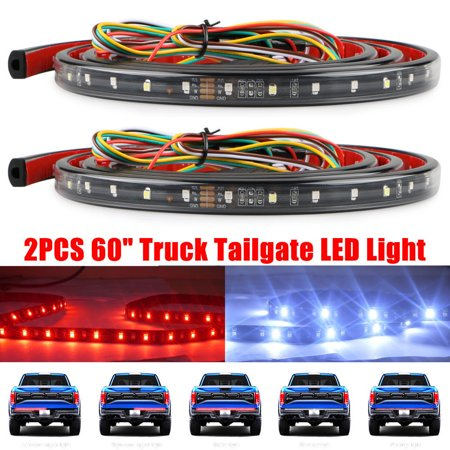 2PCS 60 inch Tailgate Bar LED Strip 5-Function Brake Signal Light Truck SUV Jeep