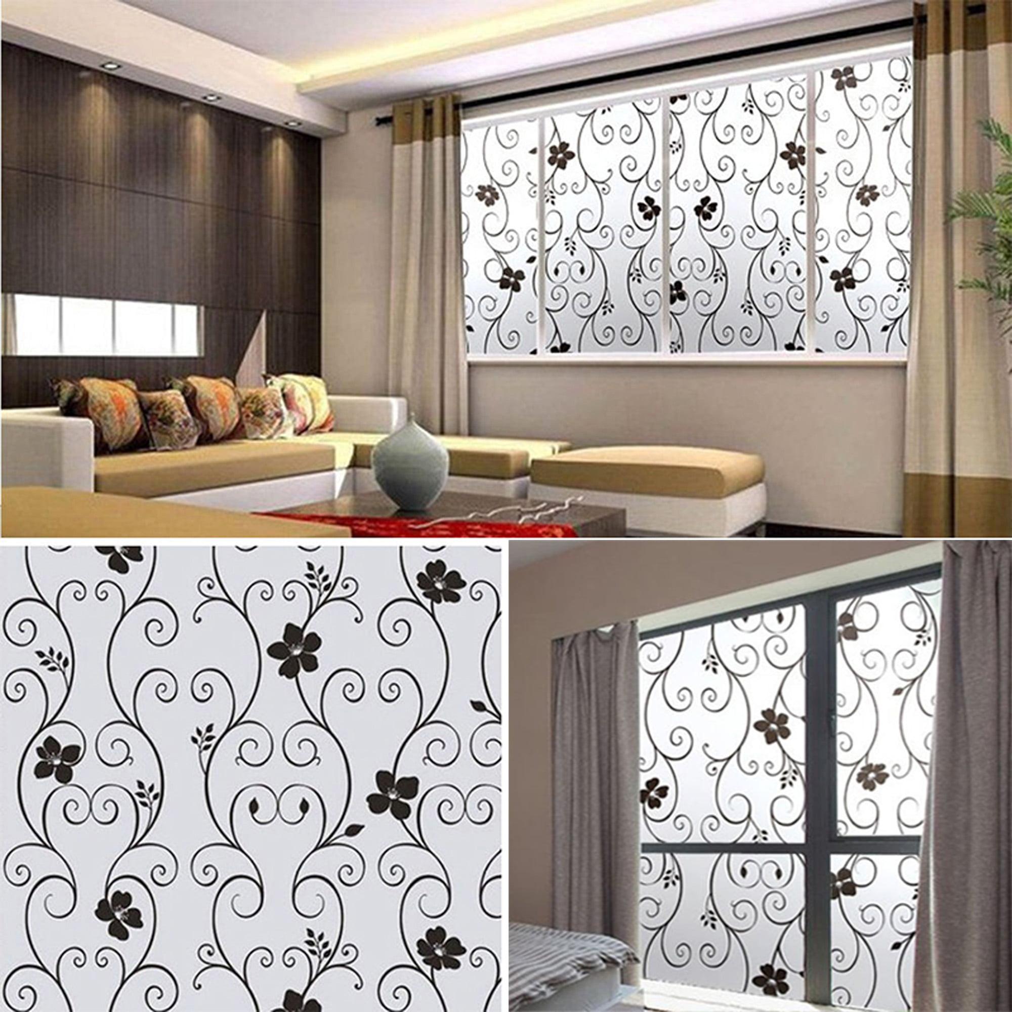 Dodoing Waterproof Frosted Glass Films Window Film Door Film Sticker Uv Protection Home Bedroom Bathroom Protect Privacy Decor Walmart Com Walmart Com