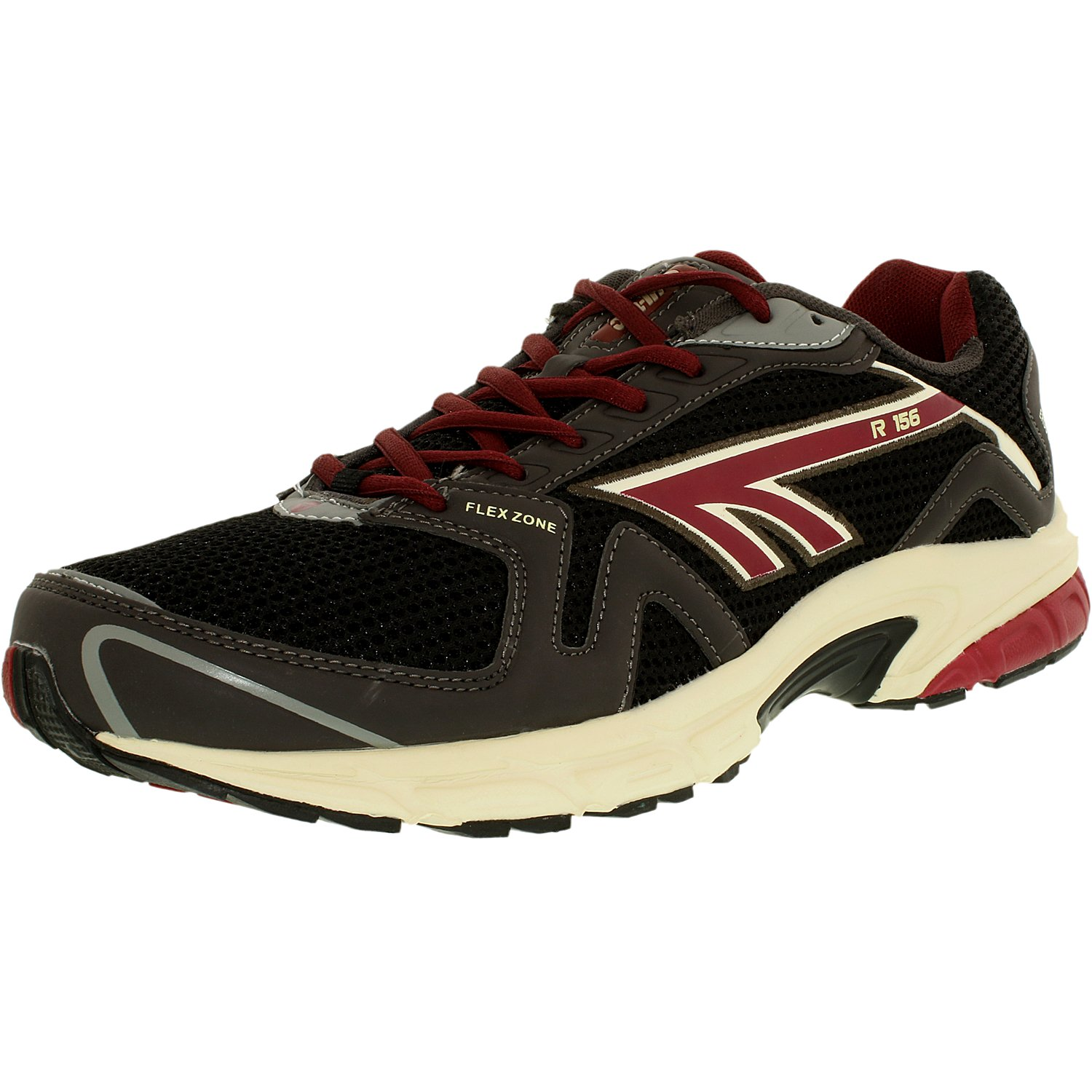 Hi-Tec Men's R156 M Charcoal Black Red Ankle-High Running Shoe 11M by Hi-Tec