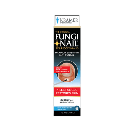The Original Fungi Nail Toe & Foot Brand Maximum Strength Anti-Fungal Solution 1 fl. oz. (Best Foot Soak For Nail Fungus)