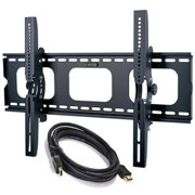 "2xhome - Universal Flat LED LCD Plasma TV Wall Mount Tilt Up Down and with HDMI for 35"" 40"" 45"" 50"" 60"" 65"" 70"" 75"" 80"" 85"""
