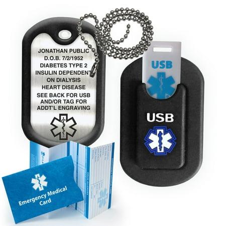 Alert Tag (INFORMER 2 GB USB and Medical Alert Dog Tag. Custom)