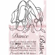 """Woodware Clear Stamps 3.5""""X5.5""""-Ballet Pumps"""